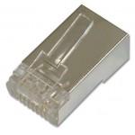 Conector UTP Cat.6 Apantallado RJ45-Macho 100unds