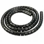 Cubrecables Espiral de 7.5 a 60 mm de 10m Negro