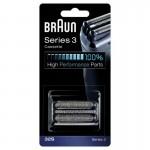 Braun 32S Silver Láminas Recambio + Portacuchillas Series 3