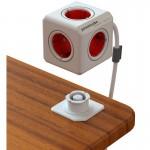 PowerCube 5 Tomas 1.5M Rojo Con Soporte