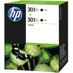 HP Tinta 301XL Black Ink Cartridge Twin Pack(D8J45AE)