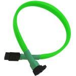 Nanoxia Cable SATA3 6Gb/s 30cm Acodado Verde