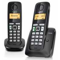 Siemens Gigaset A220 Duo Teléfono Inalambrico Negro