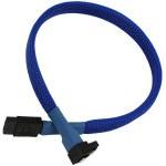 Nanoxia Cable SATA3 6Gb/s 60cm Acodado Azul