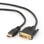 HDMI A DVI male-male cable1,8mconectores de oro-pl