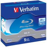 VERB-BD-R 25GB 5PK BOX STD J