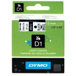 DYM-CINTA D1 12X7 BLANCO-NEG