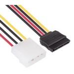 Owlotech Cable Alimentación Molex/SATA 15 cm