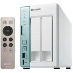 QNAP TS-251A-2G Torre Ethernet Verde, Color blanco servidor de almacenamiento