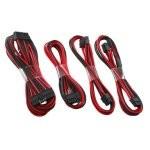 CableMod C-Series RMi / RMx Basic Cable Kit - Negro/Rojo
