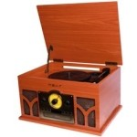 TOCADISCOS CON RADIO CD CONVERSOR BLUETOOTH