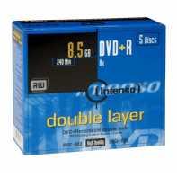 CONSUMIBLE INTENSO DVD+R 8.5GB DL 5PCS 8X CAJA
