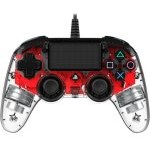 Nacon Compact Controller Wired para PS4 Iluminado Rojo