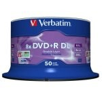 Verbatim DVD+R DL Doble Capa 8x Mate Tarrina 50 Unds