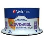 Verbatim DVD+R DL Doble Capa 8x Printable Tarrina 50 Unds
