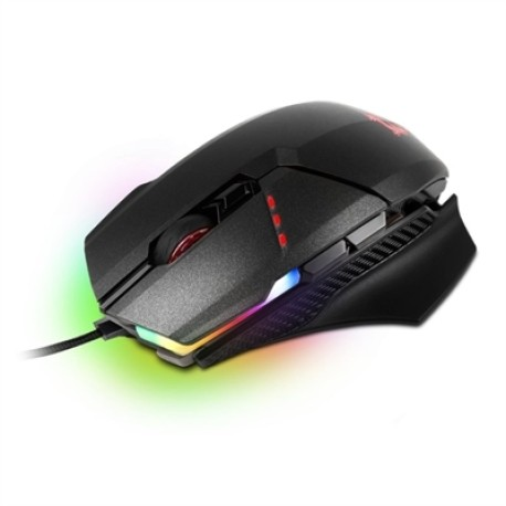 MSI Clutch GM60 Ratón Gaming 10800DPI Negro RGB