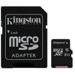 MEM MICRO SD 128GB KINGSTON CANVAS CL10 UHS-I ADAP