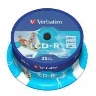 Verbatim CD-R 700MB 52x imprimible 25Unidades