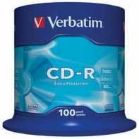 Verbatim CD-R 700MB/80min tubo 100 unidades