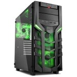 Sharkoon DG7000-G Cristal Templado USB 3.0 Negra/Verde