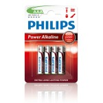 PILAS PHILIPS ALCALINA POWER AAA PACK 4U