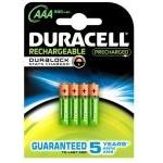 Duracell Pack 4 Pilas Recargables 800mAh AAA LR3