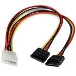 Startech Cable Divisor Molex 4 Pines a 2x SATA Macho/Hembra 30cm