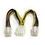 Startech Cable Divisor de Alimentación PCI Express 6 Pines 15cm