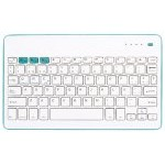 SilverHT Wireless BT Teclado Inalámbrico Azul y Blanco para Tablets