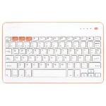 SilverHT Wireless BT Teclado Inalámbrico Naranja y Blanco para Tablets
