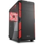 Sharkoon AI7000 Glass Cristal Templado USB 3.0 Negra/Roja