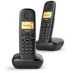 TELEFONO SIEMENS GIGASET A170 DUO NEGRO