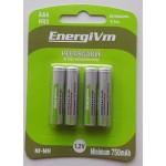 PILAS ENERGY VM AAA RECARGABLES 4UN 1000MA