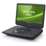 """DVD PORTATIL MUSE 10"""" USB AUX 2H BATERIA"""