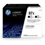 HP Paquete de 2 cartuchos de tóner negro Originales LaserJet 87X de alta capacidad
