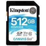 Kingston Canvas Go! 512GB SDXC UHS-I Clase 10