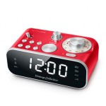 MUSE DESPERTADOR VINTAGE DOBLE ALARMA COLOR ROJO M-18 CRD