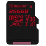 KINGSTON 256GB MICROSDXC CANVAS REACT 100R/80W U3 UHS-I V30 A1 CARD