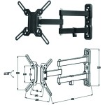 Soporte articulado pared tv monitor rotacion