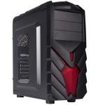 Caja ordenador atx negra pc gamer
