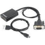 ADAPTADOR GEMBIRD VGA A HDMI 0,15M CON AUDIO 3.5MM