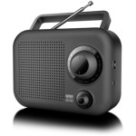 MUSE RADIO PORTATIL NEGRA ANALOG TUNER MW/FM AUX-IN