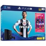 CONS. PS4 PRO 1TB + FIFA 19 + PS PLUS