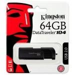 PENDRIVE 64GB USB2.0 KINGSTON DT 104 NEGRO