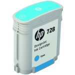 HP 728 40-ml Cyan DesignJet Ink Cartridge