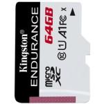 KINGSTON 64GB MICROSDXC ENDURANCE 95R/30W C10 A1 UHS-I CARD ONLY