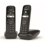 Telefono fijo gigaset as690 duo negro