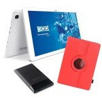 BUNDLE TABLET 3GO GT10K3IPS + TRAV5 + FUNDA ROJA