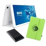 BUNDLE TABLET 3GO GT10K3IPS + TRAV5 + FUNDA VERDE
