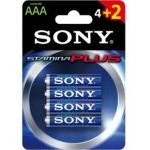 Sony AM4 Pack 4+2 Pilas Alcalinas Stamina Plus AAA LR3